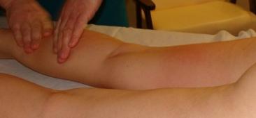 Массаж ног при лимфостазе ручной